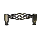 "Utopia Alley Aire Cabinet Pull, 3.8"" Center to Center, Antique Brass"