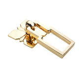 "Utopia Alley Steffi Drop Ring Cabinet Hardware, 2.5"", Polished Gold"