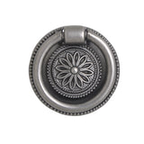 "Utopia Alley Medici Ring Pull, 1 5/8"" Diameter, Pewter"