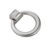 "Utopia Alley Anello Ring Cabinet Pull, 1.6"" x 1.9"", Brushed Nickel"