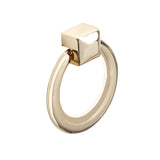 "Utopia Alley Anello Ring Cabinet Pull, 1.6"" x 1.9"", Polished Gold"