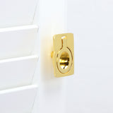 "Utopia Alley Kent Drop Ring Cabinet Pull, 1.6"", Polished Gold"