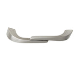 "Utopia Alley Criss Cabinet Pull, 4"" Center To Center, Brushed Nickel"