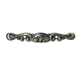 "Utopia Alley Vallia Cabinet Pull, 4.4"", Antique Brass"