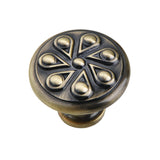 "Utopia Alley Ciel Cabinet Knob, 1.2"" Diameter, Antique Brass"