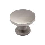 "Utopia Alley Emme Brushed Nickel Ring Cabinet Pull,  1.14"" Diameter"