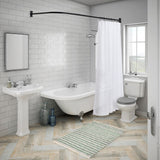 Utopia Alley Rustproof L-Shaped Corner Shower Curtain Rod