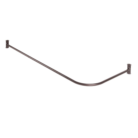 Utopia Alley Rustproof L-Shaped Corner Shower Rod, Oil Rubbed Bronze