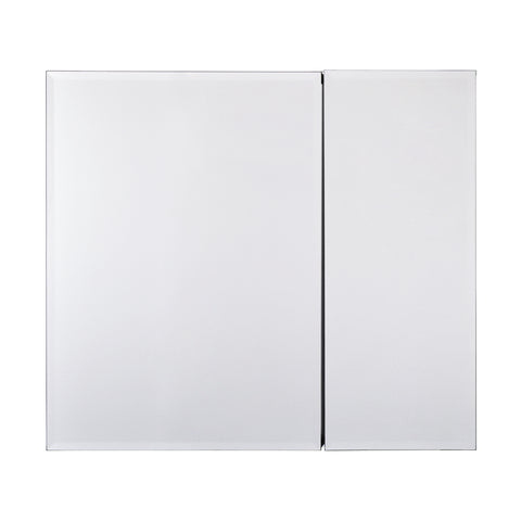 Utopia Alley Rustproof Medicine Cabinet, Glass Shelves, Mirrored Sides, Bi-View