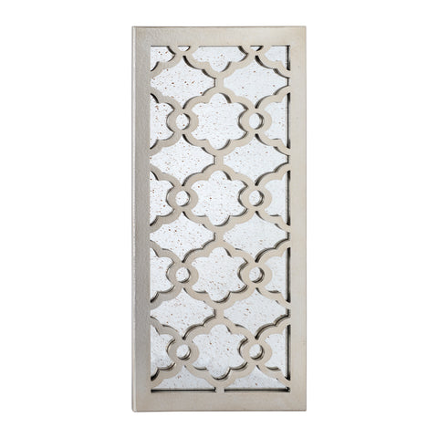 "Utopia Alley Martique Distressed Finish Wood Decorative Mirror, 31.5"" H, Distressed Silver"