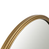 Utopia Alley Bathroom Round Mirror, Wall-Mounted Bathroom Mirror, 24''Modern Gold Metal Frame, Suitable for Wall Hanging Decoration, Dressing Table, Living Room, Bedroom