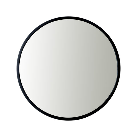 Utopia Alley Bathroom Round Mirror, Wall-Mounted Bathroom Mirror, 24''Modern Black Metal Frame, Suitable for Wall Hanging Decoration, Dressing Table, Living Room, Bedroom