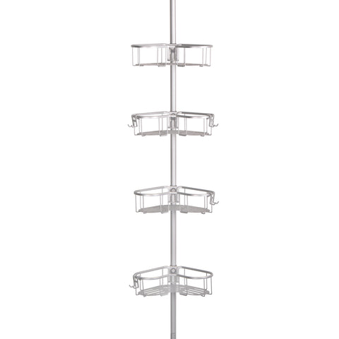 Utopia Alley Flat Shelf, Rustproof Corner Shower Caddy, Satin Chrome Finish