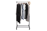 "Utopia Alley 33.5""W Adjustaable Clothes Garment Rack, Chrome/Black"