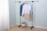 "Utopia Alley 54""W 2 Tier Adjustable Clothes Garment Rack, Chrome"