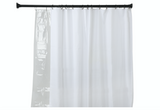 Utopia Alley Rustproof Aluminum Double Tension Straight Shower Curtain Rod 42-72""