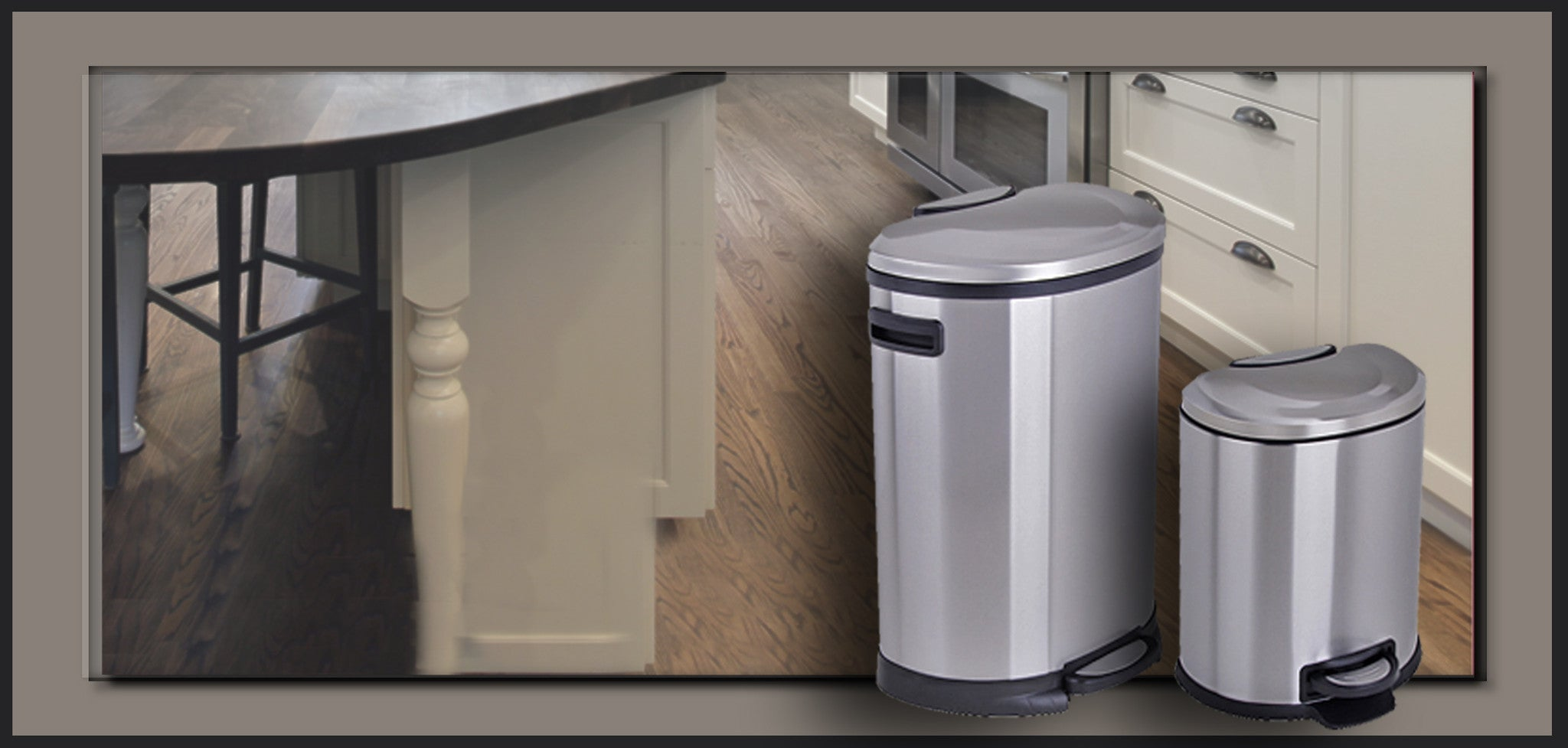 stainless steel trash cans