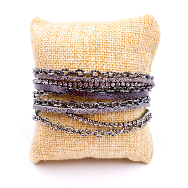 Mix Mercantile Designs - Chained Bracelet - Grey
