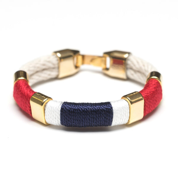 Allison Cole Jewelry - Newbury Bracelet - Ivory/Red/White/Navy/Gold