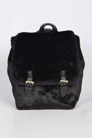Apparel Candy - Faux Fur Backpack