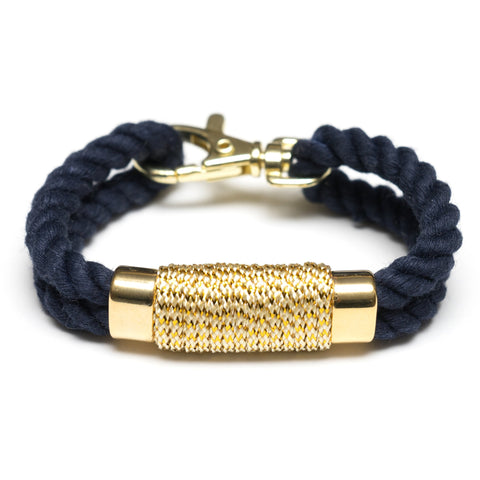 Allison Cole Jewelry - Tremont Bracelet - Navy/Metallic Gold