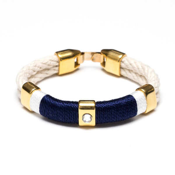 Allison Cole Jewelry - Kingston Bracelet - Ivory/Navy/White/Gold