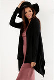 Mystree Black Shawl Cardigan