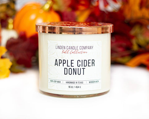 Linden Candle Company - 16oz Apple Cider Donut Fall Candle