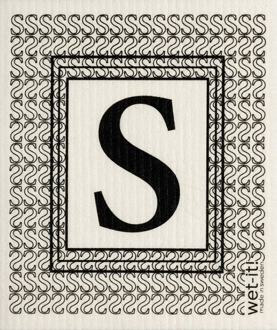 "Wet-it! - Initial ""S"" Swedish Cloth"