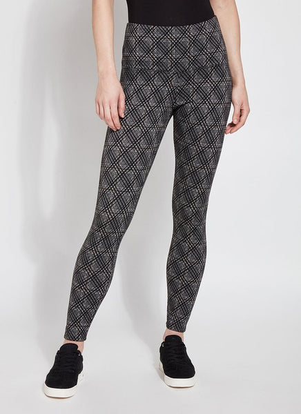 Lysse Signature Legging- Lattice Plaid