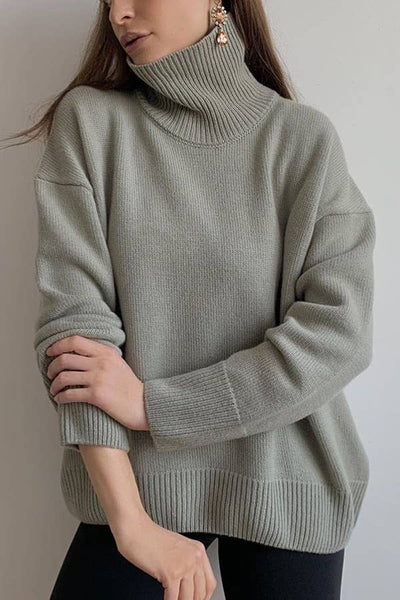 ESLEY - Cozy Perfection Cowl Necked Sweater