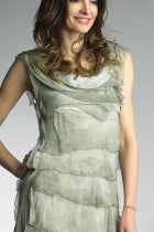 Tempo Paris Tiered Dress-Sage