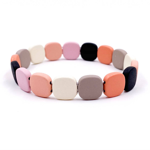 Mix Mercantile Designs - Squared Bracelet - Peachy