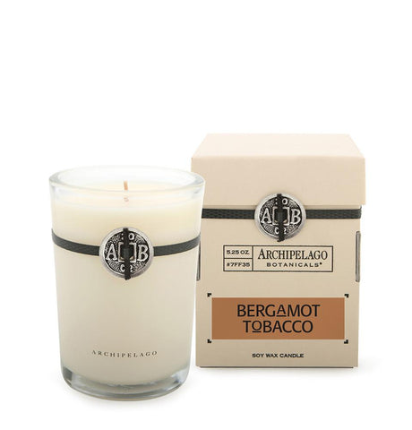 Archipelago Botanticals Bergamot Tobacco Boxed Candles