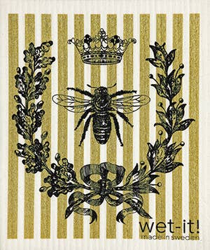 Wet-it! - French Bee Black and Gold Swedish Cloth