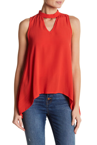 Elan Sleeveless Mock Neck Blouse