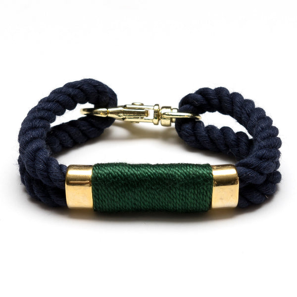 Allison Cole Jewelry - Tremont Bracelet - Navy/Hunter Green/Gold