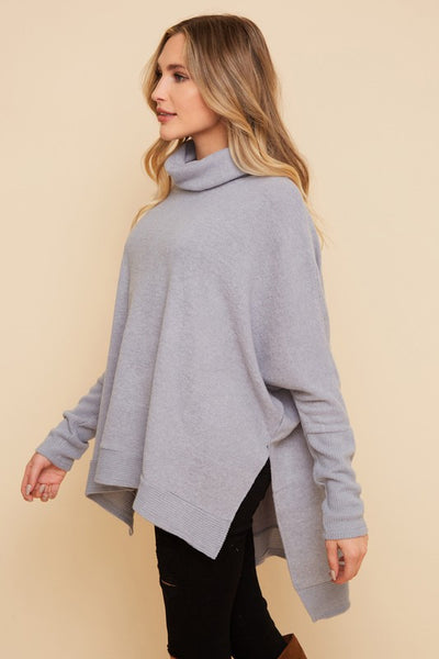 Madison Cowl neck Hi Low Sweater