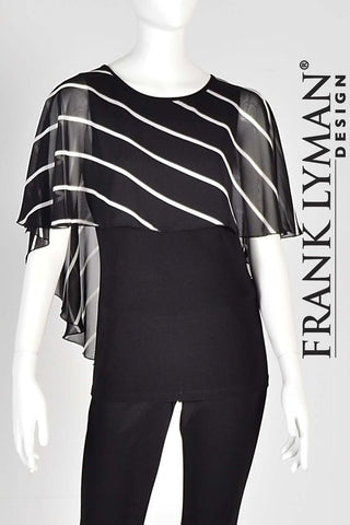 Frank Lyman Stripped Sheer Top