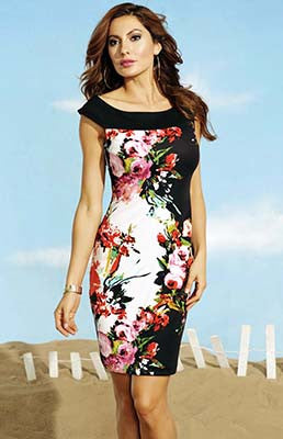 Frank Lyman Floral Sleeveless Dress