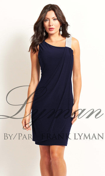 Frank Lyman Navy Diamond Dress
