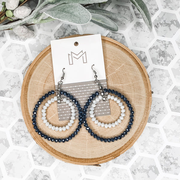 Mix Mercantile Navy and White Earrings