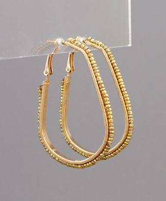 Stella Beaded Teardrop Hoops