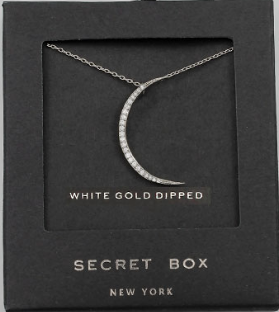 Secret Box Thin Crescent Moon Necklace