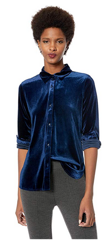 Lysse - Velvet Brinkley Shirt (Midnight Blue)