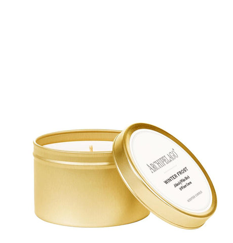 Archipelago Winter Frost Gold Tin Candle