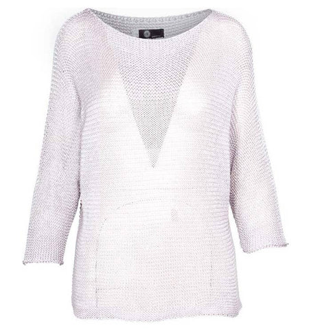 M Made In Italy - Women's Three-Quarter Sleeve Lightweight Knit Sweater