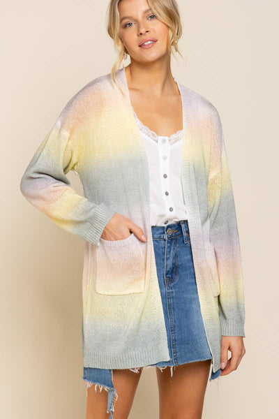 Pol Clothing Rainbow Cardigan