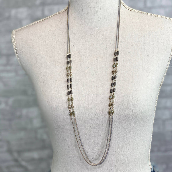 Mix Mercantile Designs - Devin Double Strand Necklace - Brown