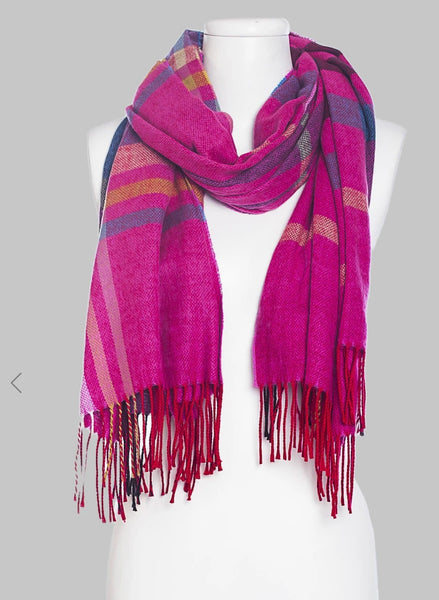 Vivante by VSA -Plaid Blanket Italian Scarf